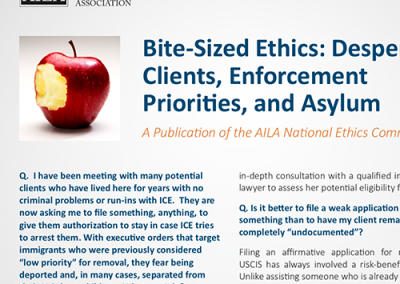 American Immigration Lawyers Association Aslyum Ethics Guidance