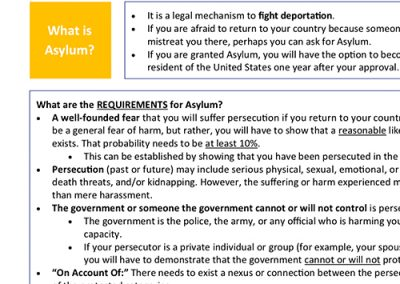 Asylum Summary English