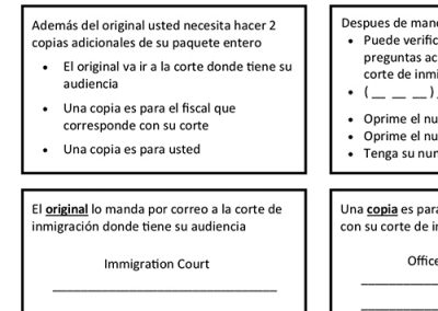 Instructions for Filing Motions to a Different Court – Spanish