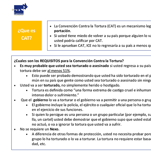 Protections Under the Convention Against Torture – Spanish