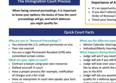 The Immigration Court Process – English