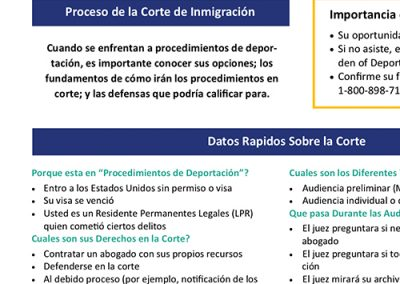 The Immigration Court Process – Spanish