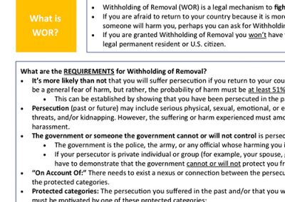 Withholding of Removal Summary – English