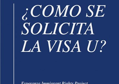 Power Point Explaining U Visas – Spanish