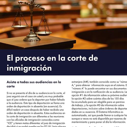 El Proceso en law Corte de Inmigracion