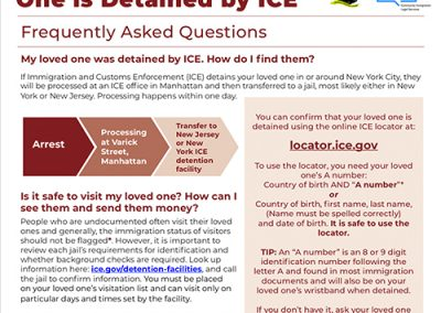 ICE Detained Flyer – English