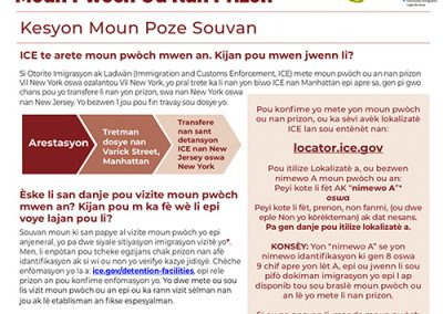 ICE Detained Flyer – Haitian Creole