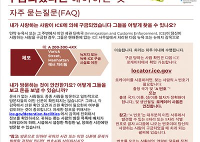 ICE Detained Flyer – Korean