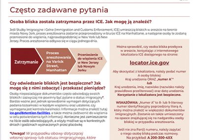 ICE Detained Flyer – Polish