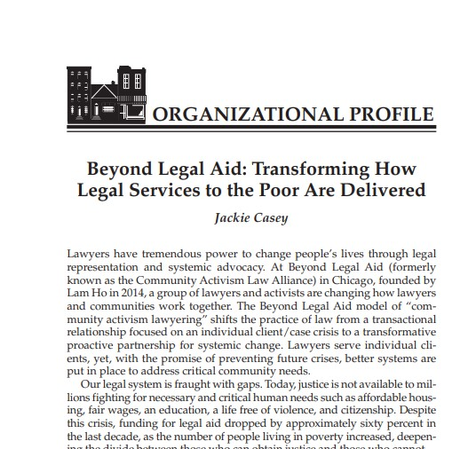 Beyond Legal Aid: Transforming How Legal Services are Delivered to the Poor