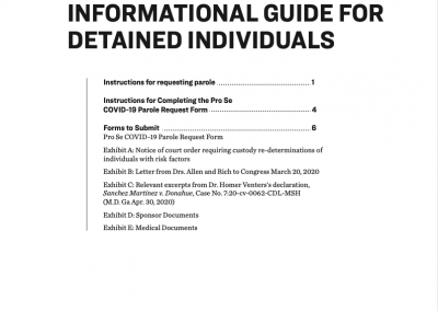 Innovation Law Lab: COVID-19 Parole Info Guide For Detained Individuals